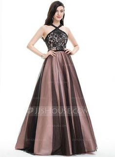 0cf4f26195e  US  220.99  Ball-Gown Scoop Neck Floor-Length Tulle Prom Dress