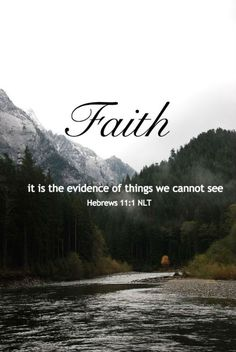 My faith in something in God, believing, in something I cannot see is it's evidence! Evidence means something is true. My faith is it's evidence before I see it that it is! Biblical Quotes, Bible Verses Quotes, Bible Scriptures, Faith Quotes, Spiritual Quotes, Faith Scripture, Spiritual Encouragement, Christian Life, Christian Quotes