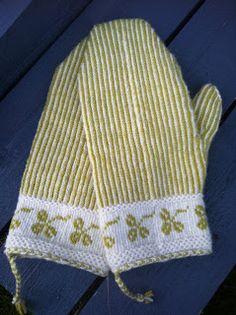 Vi 2 i sommar Fair Isle Knitting Patterns, Knitting Stitches, Knitting Yarn, Hand Knitting, Crochet Patterns, Knit Mittens, Knitted Gloves, Fingerless Mitts, How To Start Knitting