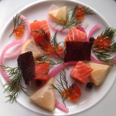 Pickled Salmon Pickles, Panna Cotta, Salmon, Chips, Eat, Ethnic Recipes, Table, Food, Dulce De Leche