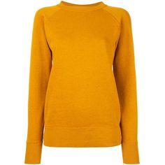 "Isabel Marant Étoile ""Billy"" Sweatshirt (185 AUD) ❤ liked on Polyvore featuring tops, hoodies, sweatshirts, yellow, long sleeve tops, drop shoulder tops, long sleeve sweatshirt, orange top and orange sweatshirt"