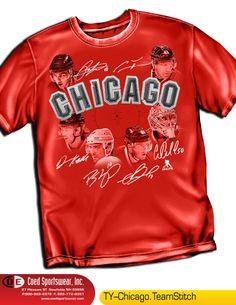 Chicago Black Hawks Team Star Shirt NHLPA by Coed Sportswear Red L http://stores.ebay.com/dklane1