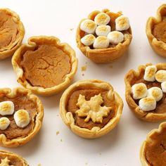 Muffin-tin pumpkin pies- What a fun thing this would be for the kids! all of them have a separate little ppie