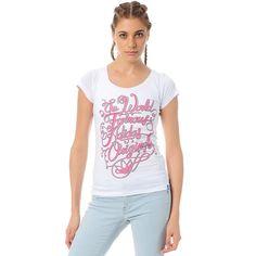 ADIDAS ORIGINALS LADIES/ GIRLS CALLIGRAPHY T-SHIRT Pink /White