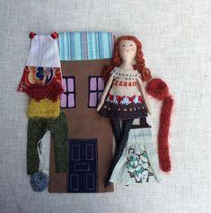 Weiche Puppe in Tasche Handmade Stoff Puppe Puppe von Dollisimo