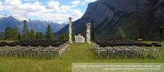 Canadian Rocky Mountain Resorts outdoor wedding. Talk about the most amazing backdrop!