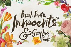 Innocents fonts & Graphic packs by celcius design on @creativemarket