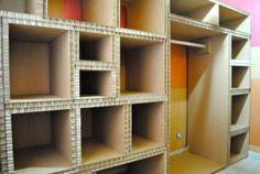 Mueble en cartón. LA CARTONERIA