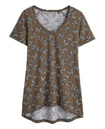 Butterfly Print Dipped Hem T-Shirt - Shop for women's T-shirt - Khaki/Butterfly T-shirt Adult Tricycle, Butterfly Print, Shirt Shop, Latest Fashion, Tunic Tops, T Shirts For Women, Clothes, Shopping, Style