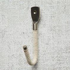 Rope + Metal Hook - Cotton #westelm