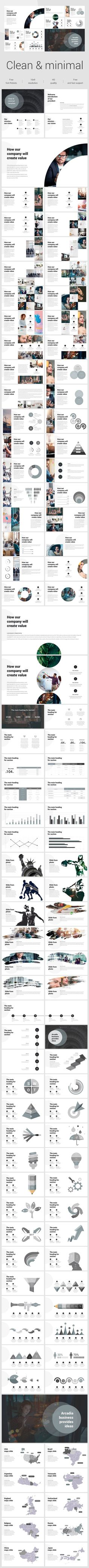 Clean & Minimal Powerpoint Template - Pitch Deck PowerPoint Templates