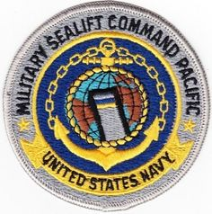 U.S. Navy Military Sealift Command Pacific Patch