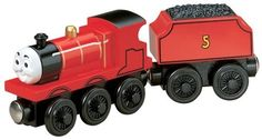 Thomas And Friends Wooden Railway - James the Red Engine by Learning Curve, http://www.amazon.com/dp/B000TLR7LU/ref=cm_sw_r_pi_dp_oQktsb0FYZ74K