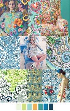 Posts about spring summer 2017 trends written by Blue Bergitt Colour Schemes, Color Trends, Color Patterns, Print Patterns, Design Trends, Damask Patterns, Colour Palettes, Design Ideas, 60s Fashion Trends