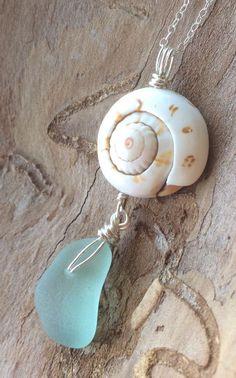 "Foam Green Sea Glass Necklace 18"" Sterling Silver HandMade Delicate Gift Box #Handmade #Pendant"