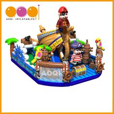 AQ01628(10*8*6m  32.81'*26.25'*19.69') AOQI latest design pirate treasure hunt fun city. Do you want to try ! Come on.