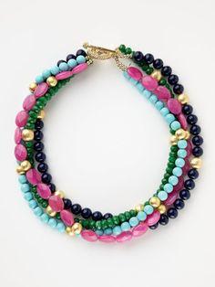 carousel multi-strand necklace