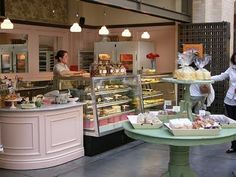 I must have a pastry fridge and round counter someday, it is my only requirement.