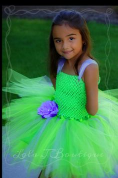 Lavender Tinkerbell Tutu Costume Dress SET  ALL by LolaJBoutique, $59.00