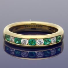 18ct Emerald & Diamond Eternity Ring £1,150.00 Wedding Bands, Our Wedding, Eternity Ring Diamond, Gold Art, Emerald Diamond, Metal, Rings, Style, Swag
