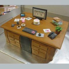 Office Desk Cake By klamb17 on CakeCentral.com