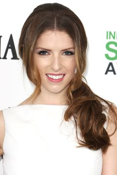 9 Nostalgic 'Dos That Are Rad Again #refinery29  http://www.refinery29.com/nostalgic-hairstyles#slide2  Remember those slicked, tight ponytails with the tiny pieces of hair that would fall in your face? Consider Anna Kendrick's style the grown-up (and much cooler) version of those unfortunate looks.
