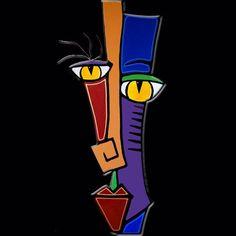 Art 'Simplify - S - by Thomas C. Fedro from Sculpture Art Picasso, Pop Art, Palm Frond Art, Cubist Art, Abstract Face Art, Cardboard Art, Fused Glass Art, Arte Pop, Art Portfolio