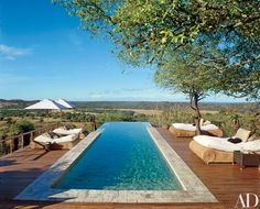 The pool area offers a panorama of the bush | archdigest.com