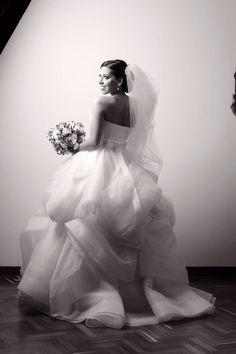 The back of my dress ( Vera Wang Katherine Dress)