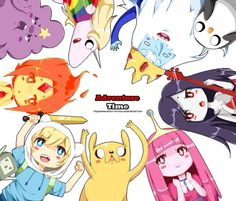 Adventure Time aww so cute! ^.^ Except jake... He's kinda scary...