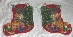 Rose & Hubble fabric craft panel cut and sew part completed Christmas Stocking | eBay