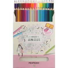 Színes ceruza készlet 48 szín Aihao  Első osztályú puha, zsíros ceruzák. Gyönyörűek a színek, a pasztellek és a sötétebb árnyalatok is. Könnyen faragható. Notebook, Color, Colour, The Notebook, Exercise Book, Notebooks, Colors