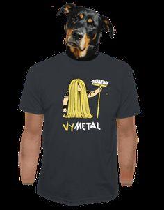 Metalista tmavě šedé pánské tričko