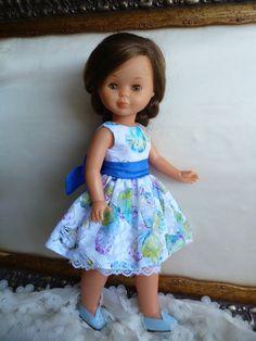 ANILEGRA COSE PARA NANCY: Mariposas para Nancy Girl Dolls, Baby Dolls, Vestidos Nancy, Glitter Girl, Cabbage Patch Kids, American Girl, Doll Clothes, Flower Girl Dresses, Summer Dresses