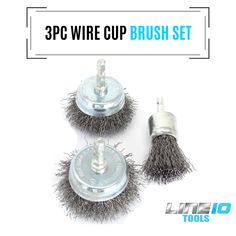"6 Piece Rotary Drill Tool Accessory Kit Crimped Wire Wheel Cup Brush Set 1//4/""..."