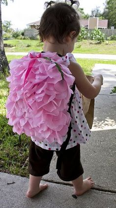 Petal backpack tutorial-- combine with drawstring bag tutorial.