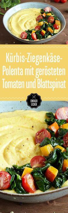 Volle Spinat-Power voraus! Was zu unserem grünen Lieblingsgemüse besonders gut passt? Polenta, Kirschtomaten, Kürbis!