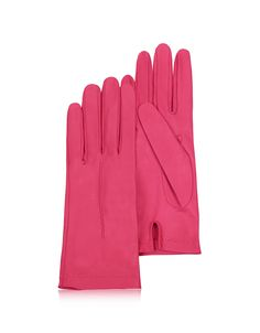 Forzieri Women's Gloves, Women's Hot Pink Unlined Italian Leather Gloves #ad #commissionlink