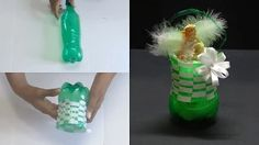 DIY Crafts - Beautiful Basket With Cool Drink Bottle - YouTube
