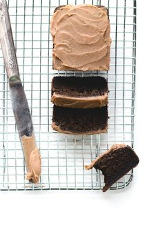 """AIP/Paleo """"Chocolate"""" Carob Bread that tastes fudgey and delicious, with a vegan date caramel frosting. Made with Otto's cassava flour & gelatin egg."""