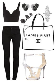 """Untitled #1531"" by cecilia-rebecca-stagrum-buch on Polyvore featuring Giuseppe Zanotti, Chanel, MICHAEL Michael Kors, J Brand, Effy Jewelry, Henri Bendel and Kendra Scott"