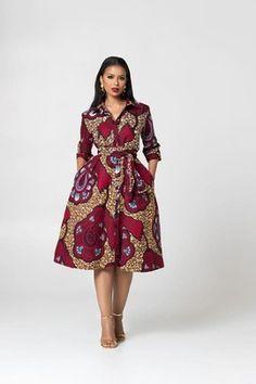 African Shirt Dress, Short African Dresses, Latest African Fashion Dresses, African Print Dresses, African Shirts, African Print Fashion, African Dress Styles, African Style Clothing, African Women Fashion
