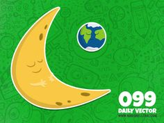 099 - Sleepy moon (To see them all click on the image)