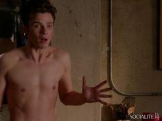 Chris Colfer is seen shirtless on 'Glee' in the episode 'The End of Twerk'.