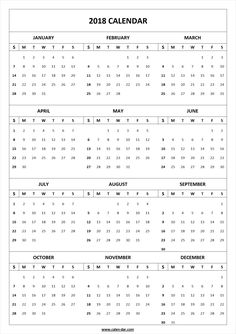 Get free blank template of year 2018 printable calendar for Usable calendar template