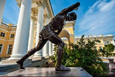 Youth Playing - sculpture outside the Alexander Palace in Tsarskoye Selo (Pushkin), south of St Petersburg, Russia