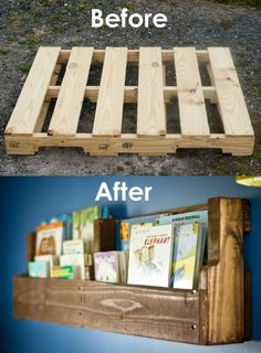Pallet Book Shelf- I've done this before!