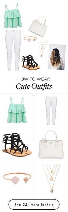 """Cute summer outfit"" by lvalino0613 on Polyvore featuring LE3NO, Steilmann, Mystique, Prada and Michael Kors"