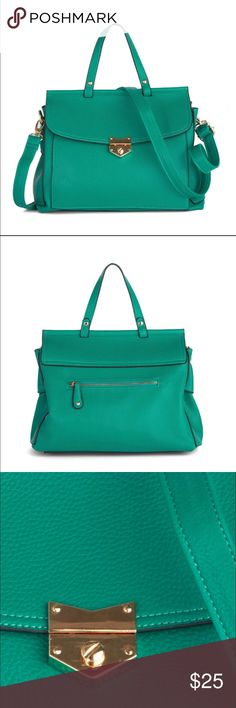 """Liquid Daydreams bag by ModCloth. In Teal/Green. This classy yet fun bag in Keppel (Greenish/Teal) is perfect for a vintage inspired outfit! Brand new, never worn. In mint condition. With tags. Gold accents and shoulder strap. 11"""" long. ✨✨✨ can't include in bundle sorry. ModCloth Bags Satchels"""