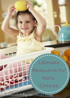 Kid Chores Resource List...60+ ideas for chore charts, chore lists and printables. Plus link-up your own post!